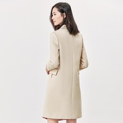 [New giá 199 nhân dân tệ] 2018 mùa xuân và mùa thu tính khí phần dài áo khoác nhỏ dài tay giản dị phù hợp với phù hợp với nữ Business Suit