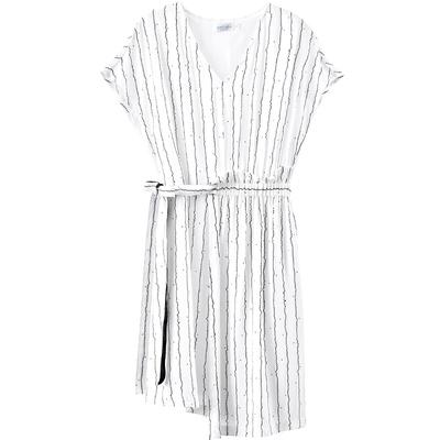 [2018] 99 nhân dân tệ mới giá mùa hè váy bất thường không tay cổ chữ V eo là sọc mỏng váy Nữ