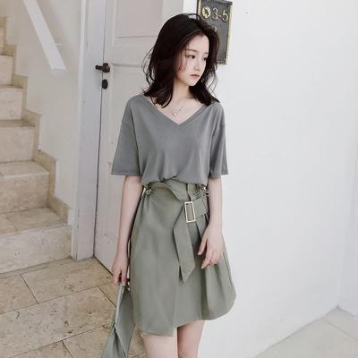 大喜自制女夏新款高腰短裙CHIC个性不规则半身裙百搭时尚裙子