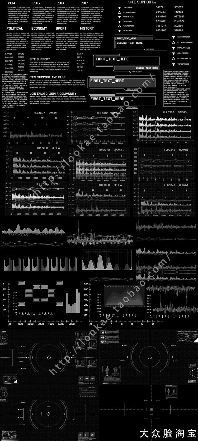 【第二季】AE模板:高科技信息化动态UI元素包VideoHive Sci-fi Interface HUD Package插图3