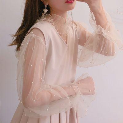 taobao agent Mori women's sankousan spot warm winter series pearl elegant base