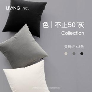 LIVING inc. черный, белый и серый цвет бархат подушка нордический диван гостиная современный подушка офис комната поясничный