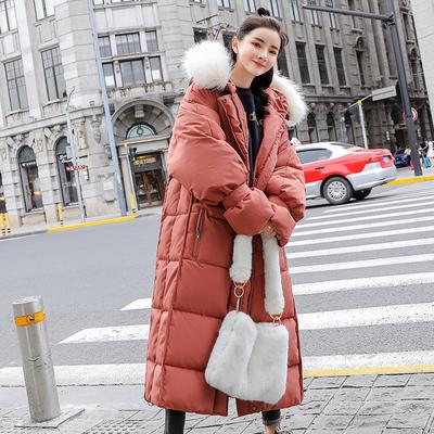 韩版大毛领女式时尚加厚面包服棉服