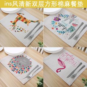 Dày hai lớp vườn bông placemat chống bỏng cách nhiệt pad vải placemat coaster bảng mat pad pad bát trà bát mat