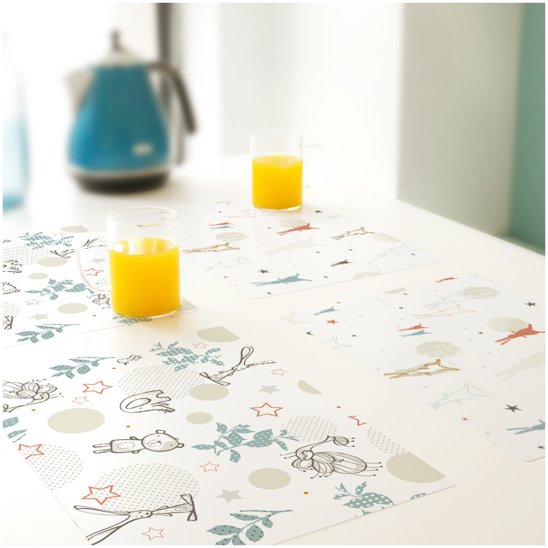 家用防水防油PVC餐垫ins北欧餐桌垫欧式日式小学生儿童盘垫碗垫子