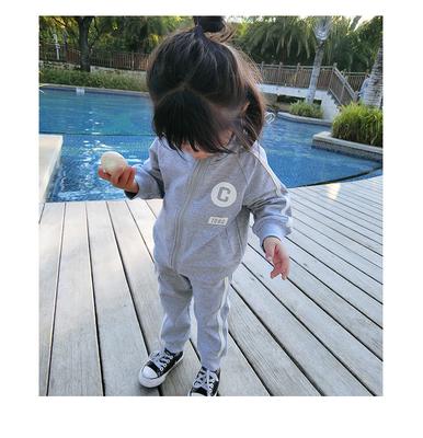 童装儿童运动套装春款纯棉长袖圆领套装女童秋装女宝宝两件套