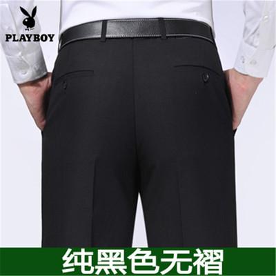 Mùa xuân và mùa hè mỏng dude kinh doanh quần lỏng trung niên phù hợp với quần đen của nam giới phù hợp với quần dài quần