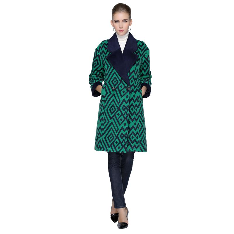 Châu âu và Hoa Kỳ chống mùa giải phóng mặt bằng của phụ nữ len phần dài 2017 mới mùa thu và mùa đông mô hình eo dày len coat coat