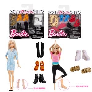 Barbie Barbie Barbie Tủ quần áo thời trang đơn giày kết hợp phụ kiện giày cô gái công chúa ăn mặc đồ chơi