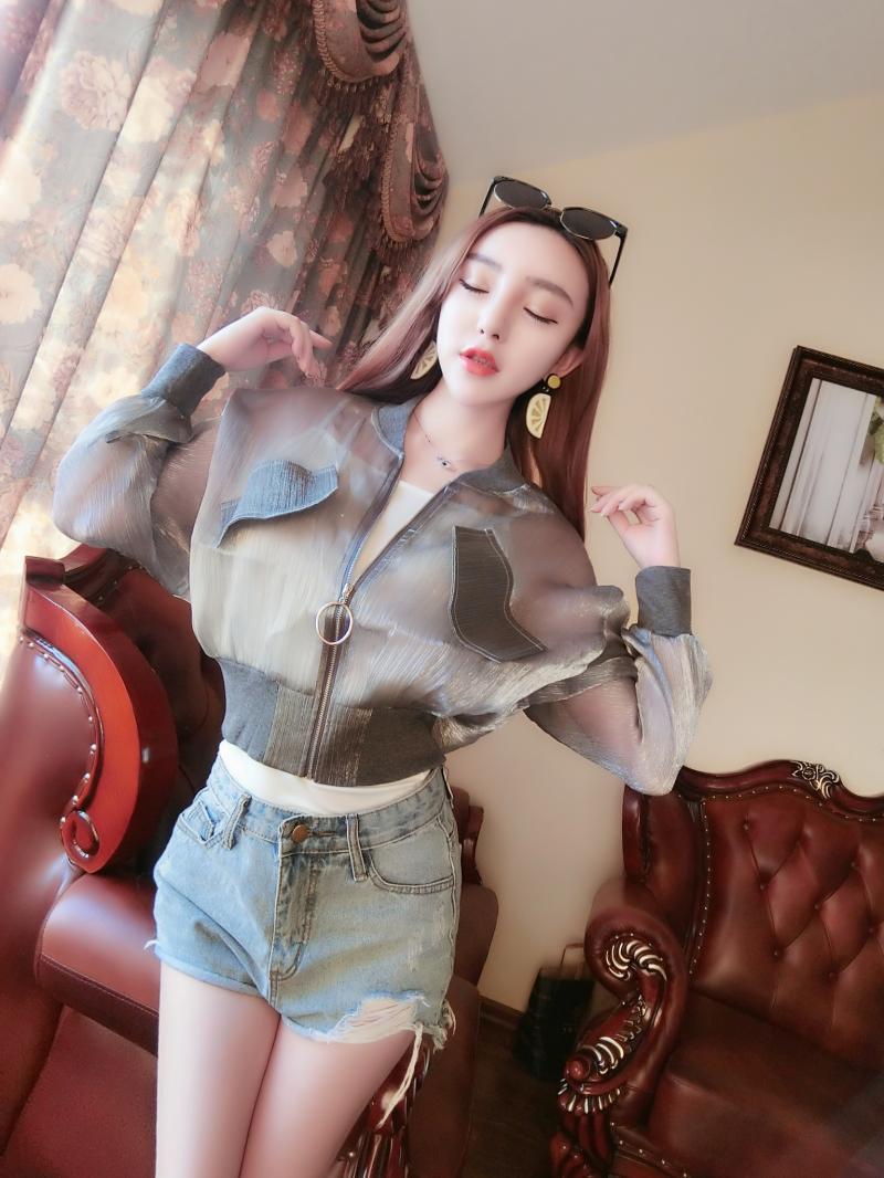 春夏防晒衣女短款新款超轻薄透气百搭皮肤衣学生沙滩外套