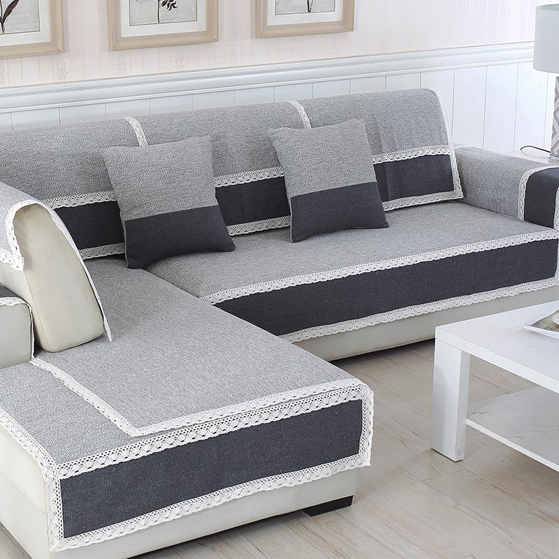 四季沙发垫布艺冬季简约现代坐垫棉麻防滑沙发套双面通用沙发巾罩