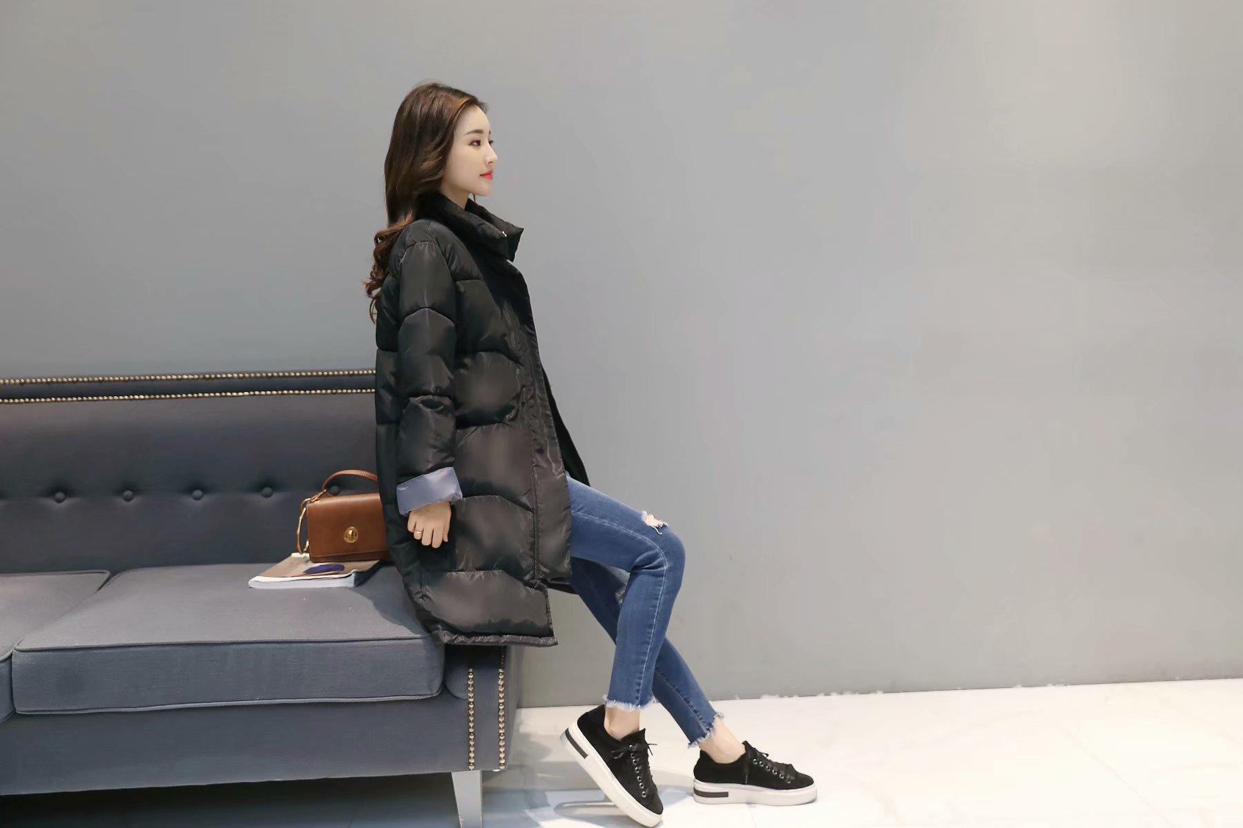 Chống mùa giải phóng mặt bằng mùa đông áo khoác lỏng bf dài bông phù hợp với phụ nữ dày bông áo sinh viên áo khoác Bông