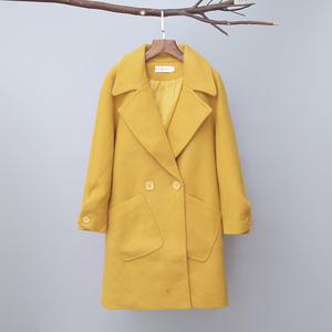 Đặc biệt cung cấp giải phóng mặt bằng màu rắn đơn giản Hàn Quốc phiên bản của xu hướng trong phần dài áo len nữ hoang dã áo khoác mỏng mỏng của phụ nữ quần áo