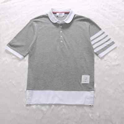 Cổ điển mới tb polo áo sơ mi nam giới và phụ nữ vài mô hình slim ve áo triều thương hiệu ngắn tay giản dị ve áo T-Shirt áo polo Polo