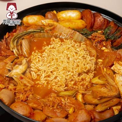 韩国部队火锅套餐组合 韩式部队锅食材速食 芝士年糕鱼饼底料套装