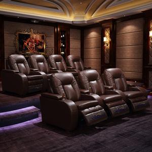 Sofa nhà hát, da bò, cabin chức năng không gian hạng nhất, kết hợp điện, phòng nghe nhìn riêng, phòng chiếu phim và truyền hình