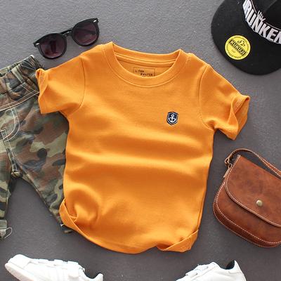 夏季男童短袖tT恤2到3周岁男宝纯棉上衣4至5到6岁半袖7-8男孩体恤