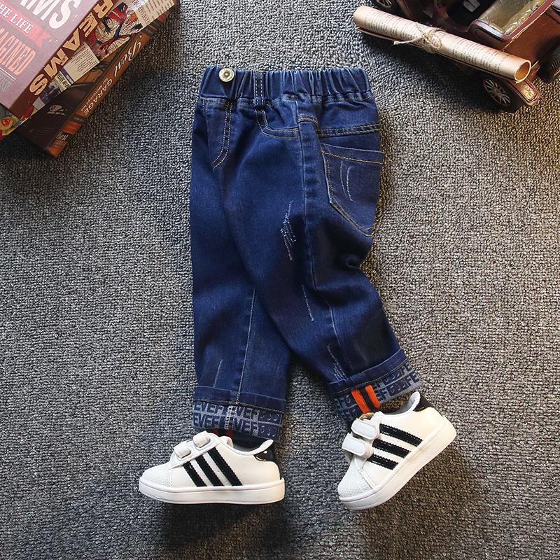 男童牛仔裤春秋装新款儿童长裤中小童休闲宝宝洋气裤子潮