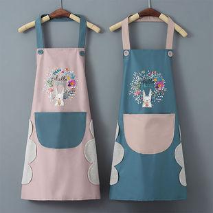 围裙女夏季洋气厨房擦手罩衣做饭工作服四季
