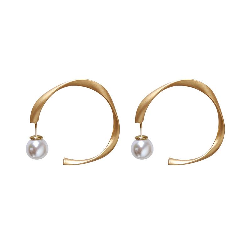 欧美chic冷淡风ins款圈圈耳环女925银针简约百搭圆圈气质圆环耳饰
