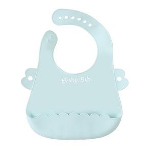 寶寶吃飯防水硅膠圍兜