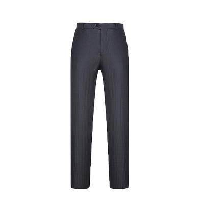 Quần nam mùa hè phần mỏng lụa lụa miễn phí nóng kinh doanh bình thường trung niên thẳng váy lỏng màu đen phù hợp với quần Suit phù hợp