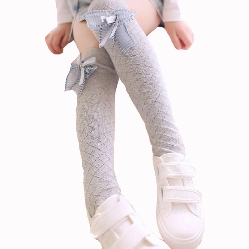 蝴蝶结长筒袜子 女童长筒袜 春夏款过膝袜儿童高筒袜子热销118件限时抢购