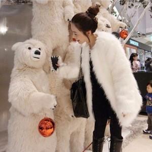 2017 new giả fur coat của phụ nữ fur coat mùa thu và mùa đông fox lông thỏ tóc ngắn trung dài tay áo chống mùa