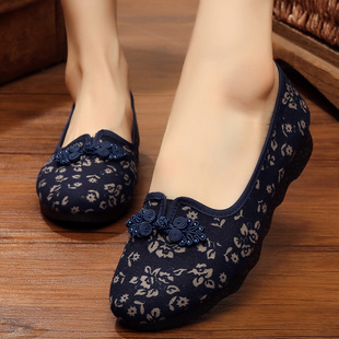 老北京布鞋老年防滑软底女鞋