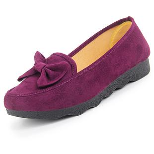 老北京女士脚面高宽女鞋大码平底鞋春季新款