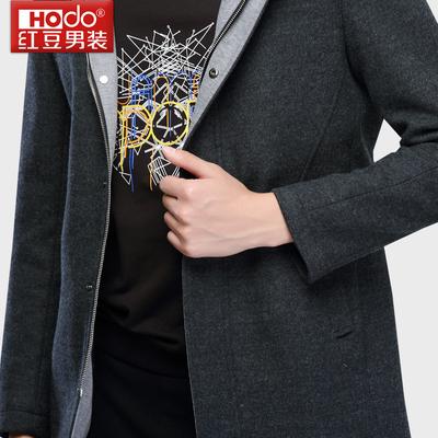[Đặc biệt cung cấp] đậu đỏ nam mỏng trùm đầu áo Hàn Quốc Slim thanh niên len áo triều nam 2052 Áo len