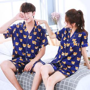 Vài bộ đồ ngủ phụ nữ mùa hè đồ ngủ nam ngắn tay phù hợp với quay lụa lụa lụa phần mỏng dễ thương sexy dịch vụ nhà