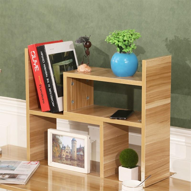 Thực tế máy tính để bàn kệ sách nhỏ kệ gỗ tiết kiệm nghiên cứu bàn nhỏ phân loại trắng đôi đơn giản cô gái miễn phí