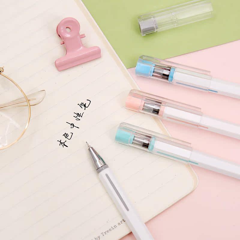 ZAA杂啊 本色中性笔简约纯色商务学生文具签字笔黑笔芯可替0.5mm