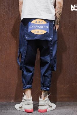 Nhật bản ban đầu có thể tháo rời bib designer xu hướng yếm của nam giới thường quần thẳng triều thương hiệu quần Quần làm việc