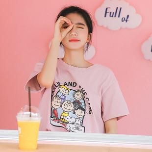 纯棉字母短袖T恤女ins潮