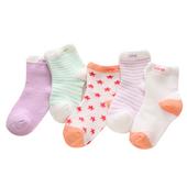 儿童纯棉薄款透气网眼短袜船袜十双
