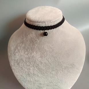时尚简约蕾丝珍珠锁骨链短项圈