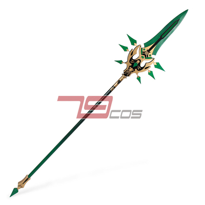 taobao agent 79cos original god and pure kite mandrill Zhongli 5 star spear simple version boutique animation cosplay props 3675