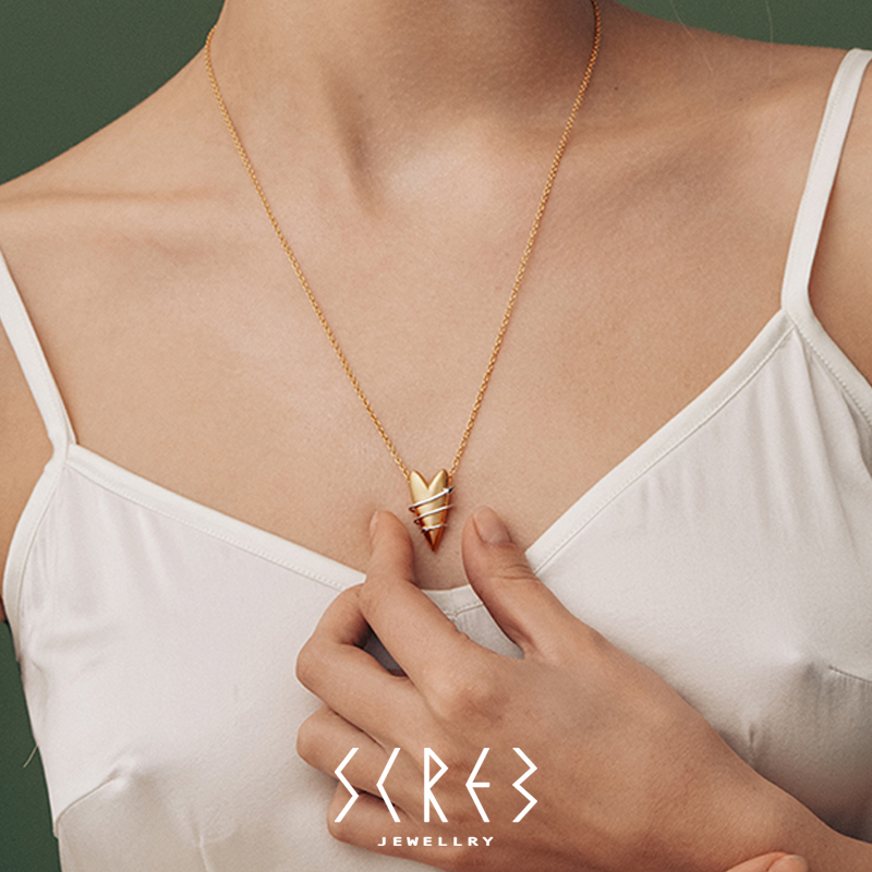 【SCREW肆物官方店】缠绕之心THE ONE系列环绕之心吊坠项链毛衣链