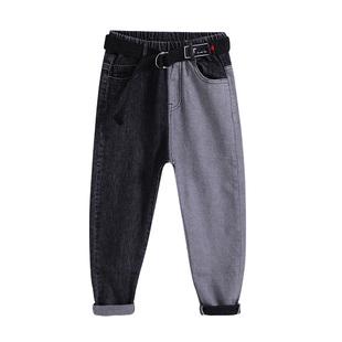 韩版潮流童装男童牛仔裤