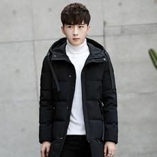冬装加厚羽绒服男士中长款白鸭绒男装外套韩版修身保暖大衣潮8030 【预售】