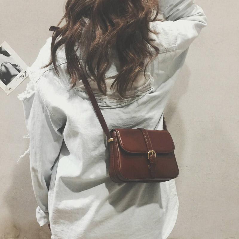包包女2017新款韩版chic斜挎包女小包简约复古百搭小方包单肩包潮