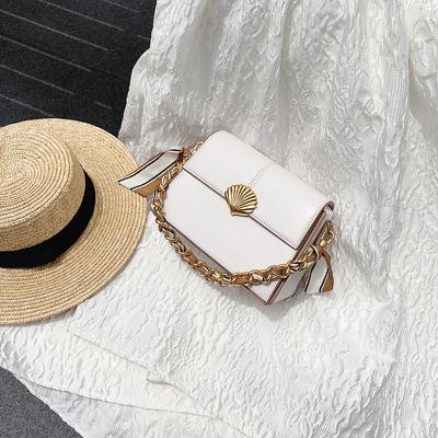 小瑞靓包小方包包女包新款百搭时尚小清新贝壳链条小包斜挎包