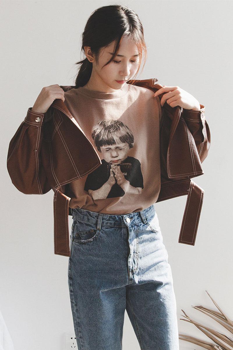 Chống mùa nóng mùa thu và mùa đông sản phẩm mới Hàn Quốc Dongdaemun đầu máy gió ve áo mở dòng phần ngắn nhỏ áo khoác da áo khoác phụ nữ Quần áo da