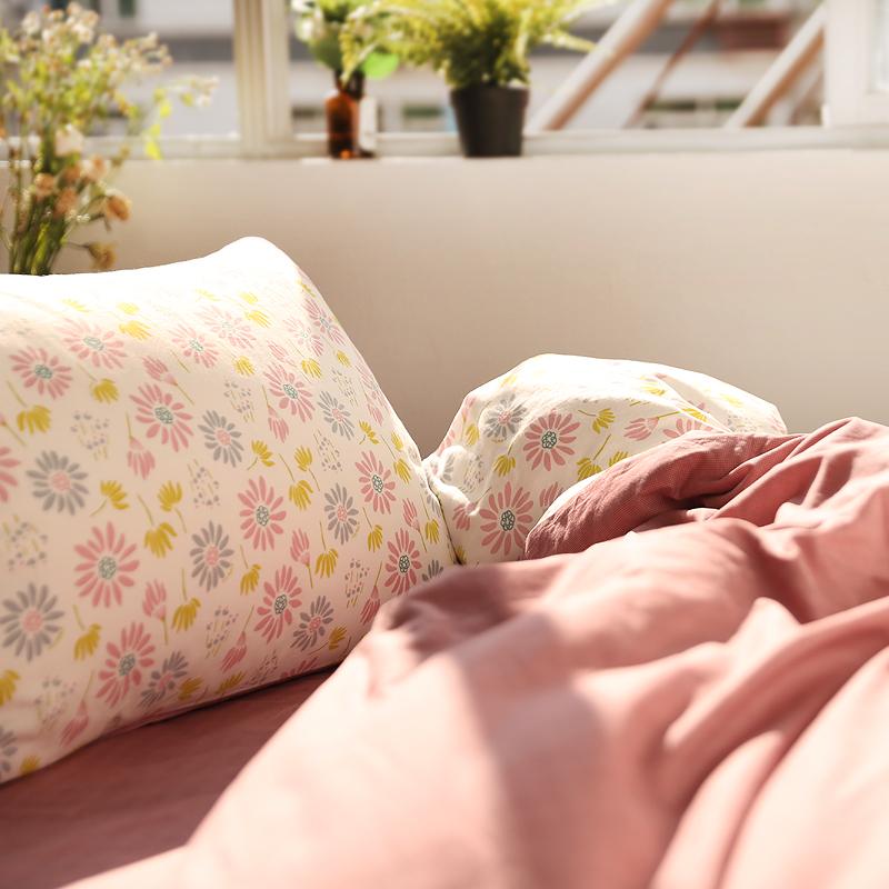 小米馍馍   惊扰了 时光   纯棉全棉床单床笠款四件套 唯美波斯菊