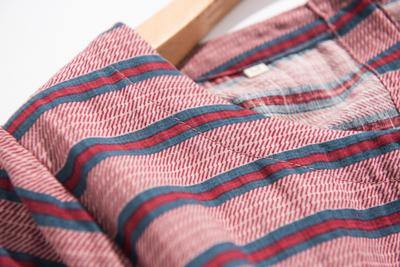 R tính khí ~ cotton và linen nghệ thuật phong cách giản dị ngắn tay vòng cổ sọc dài ăn mặc nữ X0 5 78 váy đầm