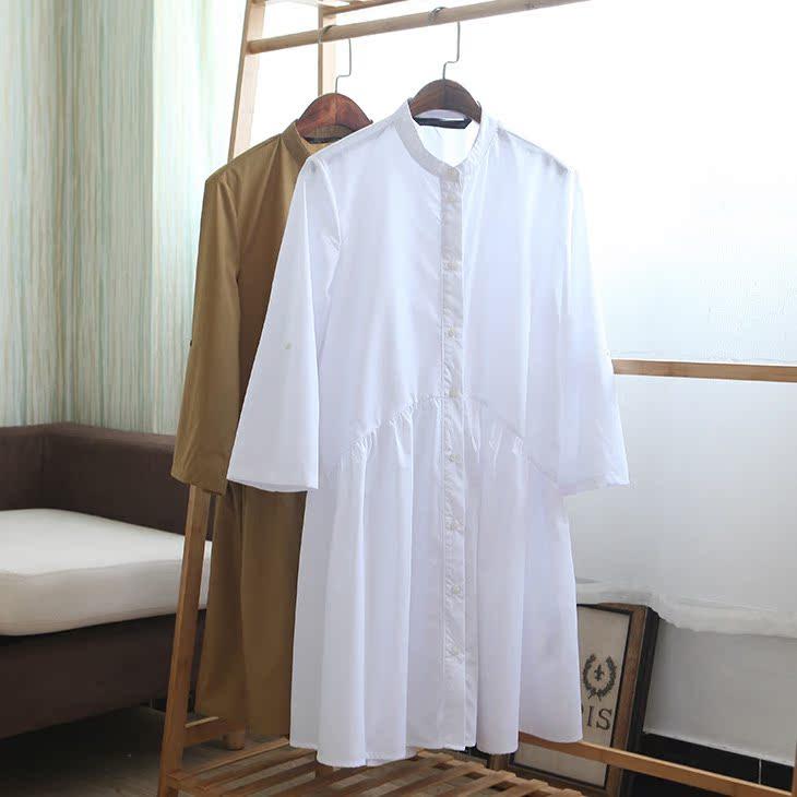 Tây ban nha đơn đi lại CV đơn giản màu rắn lỏng hoang dã đơn ngực Một từ ăn mặc DMQ807315