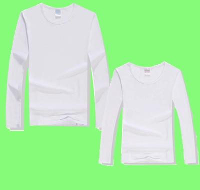 Nam và nữ 200 grams văn hóa quảng cáo áo sơ mi Phương Thức dài tay trống T-Shirt chuyển nhiệt thăng hoa đặc biệt tùy chỉnh áo thun 3 lỗ nam Áo phông dài