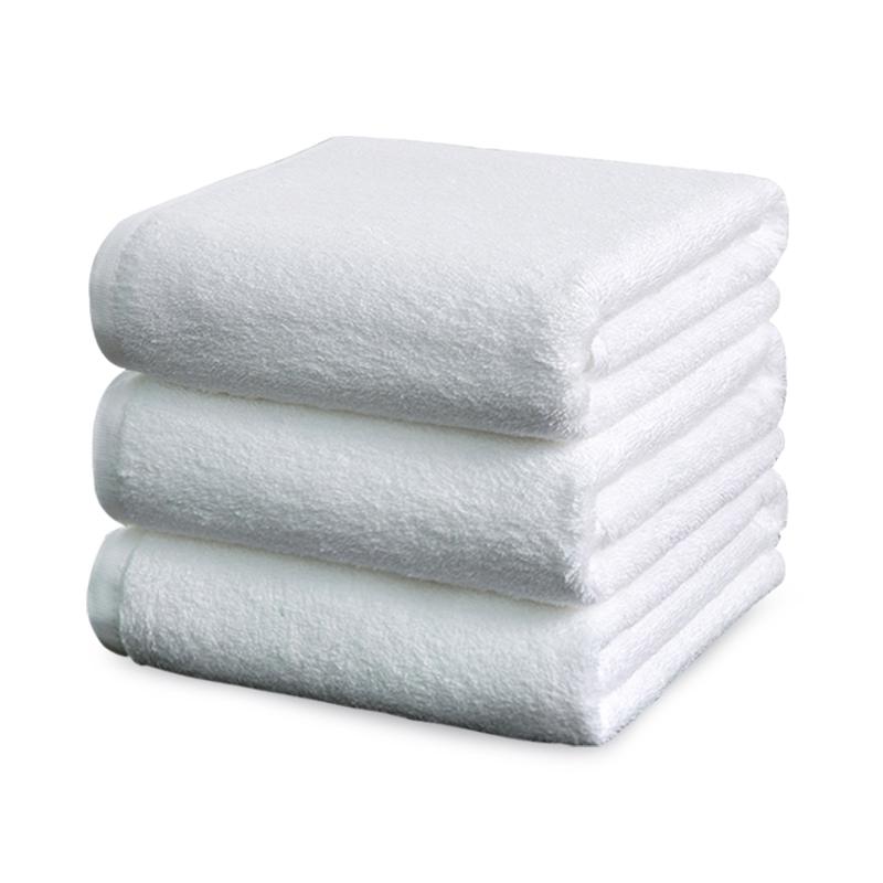 宾馆专用大毛巾白色酒店浴巾纯棉